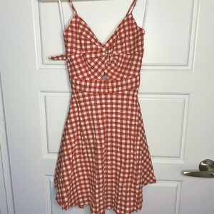 ‼️NWT‼️ Fashion Nova red gingham dress | SMALL